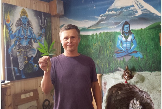 Mr Cannabis in his Hemp shop